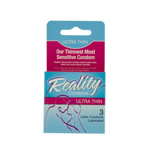 Reality Ultra Thin Latex Condoms ( Case of 96 )