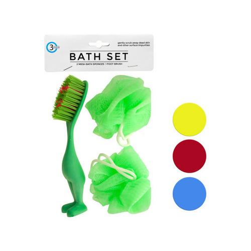 Bath Sponges & Foot Brush Set ( Case of 48 )