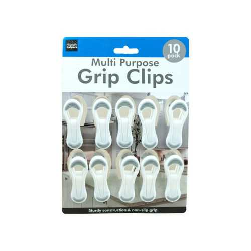 10 Pack Multi-Purpose Grip Clips ( Case of 12 )