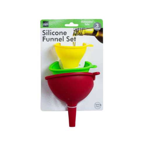 3 pack silicone funnel set ( Case of 6 )
