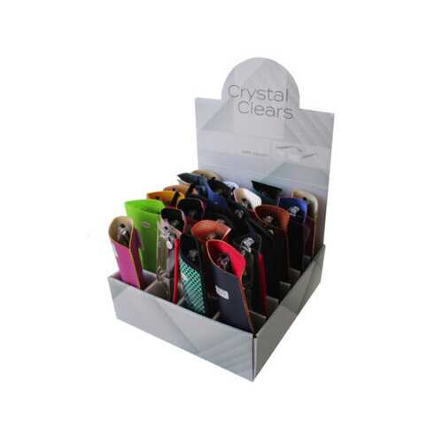 stylish lucite reading glasses in pouch ( Case of 24 )