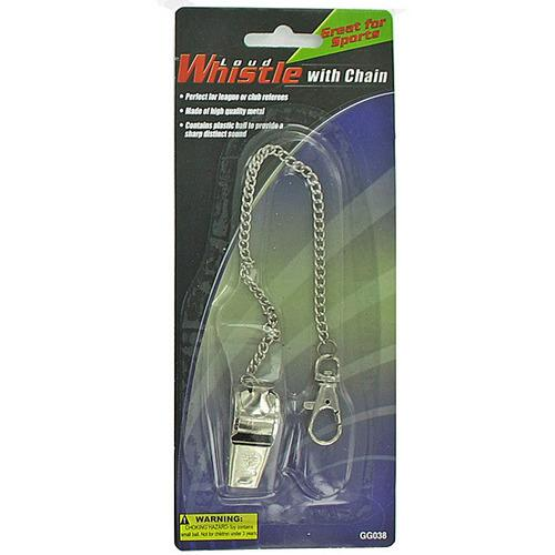 Sports Whistle with Chain ( Case of 36 )