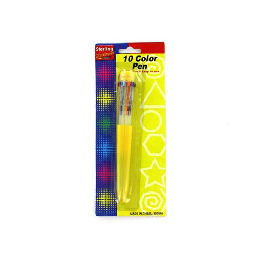 10 Color Ballpoint Pen ( Case of 48 )