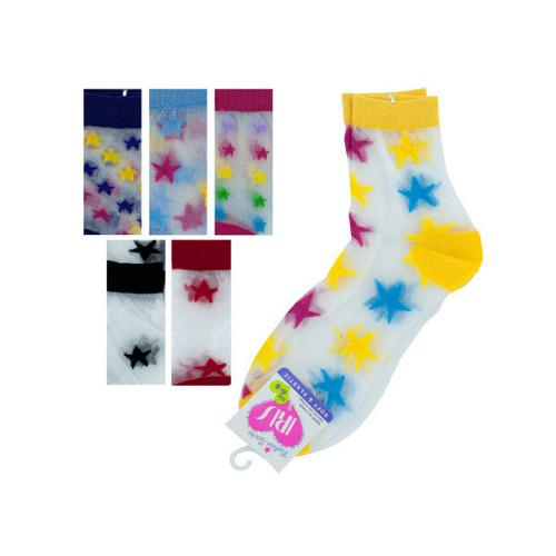 High Cut Stars Socks ( Case of 108 )