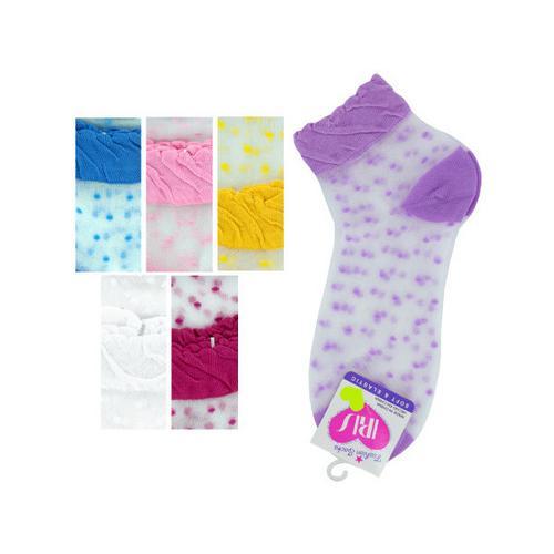 Mid Cut Dots Socks ( Case of 144 )