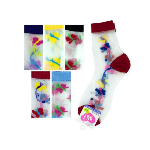 High Cut Butterfly Socks ( Case of 72 )