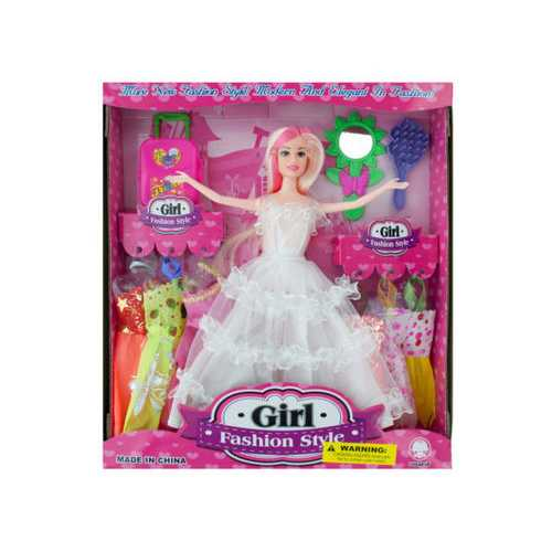 Bride Fashion Doll with Dresses & Accessories ( Case of 2 )