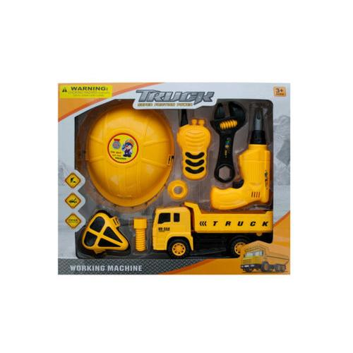 Construction Site Play Set with Friction Truck ( Case of 4 )