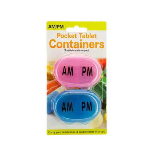 AM/PM Pocket Tablet Containers Set ( Case of 48 )