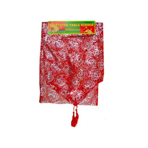 Red and Gold Bell Designs Table Runner ( Case of 72 )
