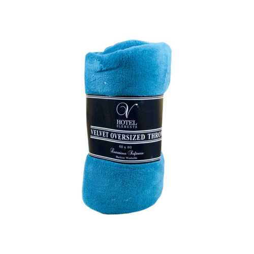 "80"" x 60"" Oversized Velvet Throw Blanket in Assorted Colors ( Case of 2 )"