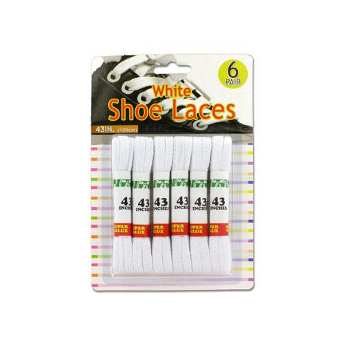 White Shoe Laces ( Case of 24 )