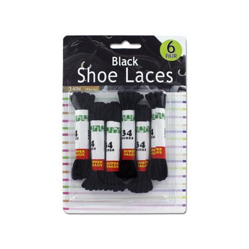 Black Shoe Laces ( Case of 72 )