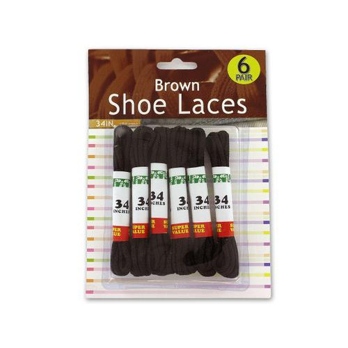 Brown Shoe Laces ( Case of 24 )