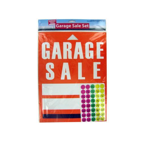 Garage Sale Sign and Sticker Set ( Case of 24 )