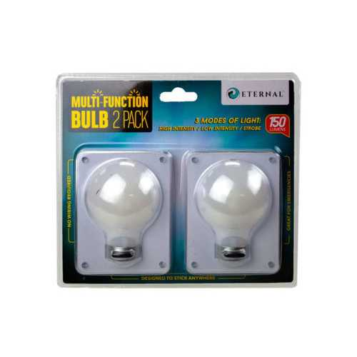 2 Pack Bulb Shaped Multi Function Switch Light ( Case of 12 )