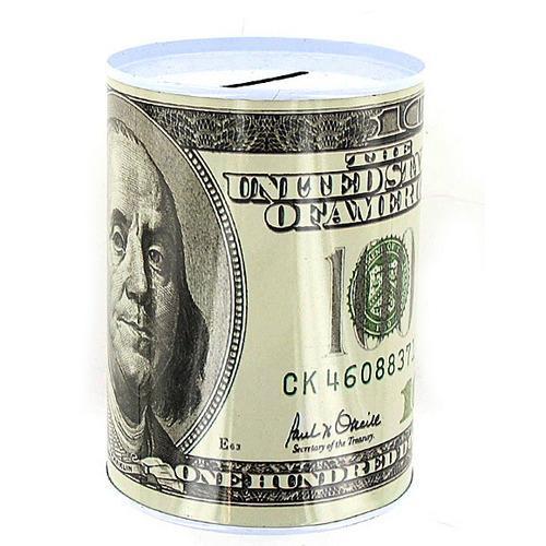 100 Dollar Bill Tin Money Bank ( Case of 24 )