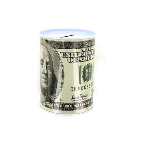 100 Dollar Bill Tin Money Bank ( Case of 48 )