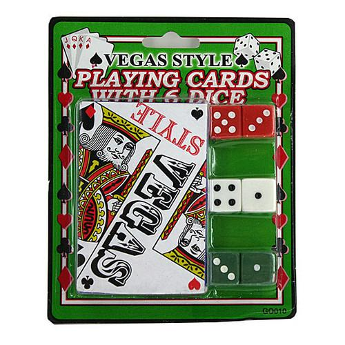 Casino Style Playing Cards with Dice ( Case of 72 )