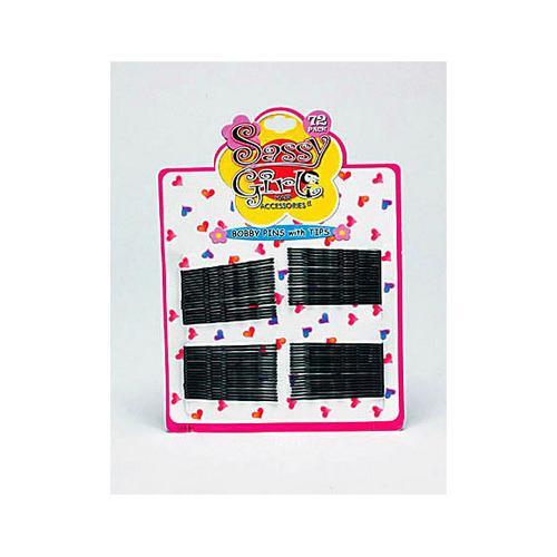 Black Bobby Pin Set ( Case of 24 )