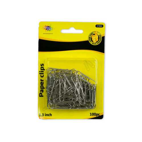 Silver Paper Clip 100pc ( Case of 24 )