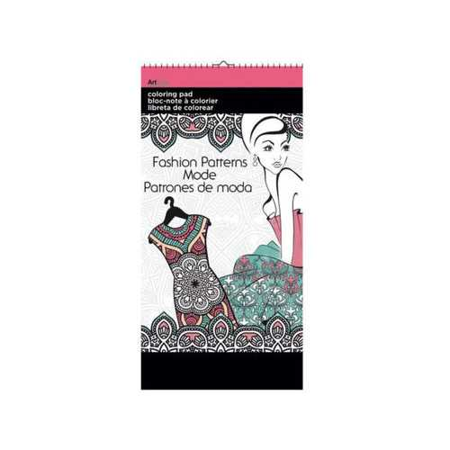 Fashion Patterns Small Coloring Pad ( Case of 72 )