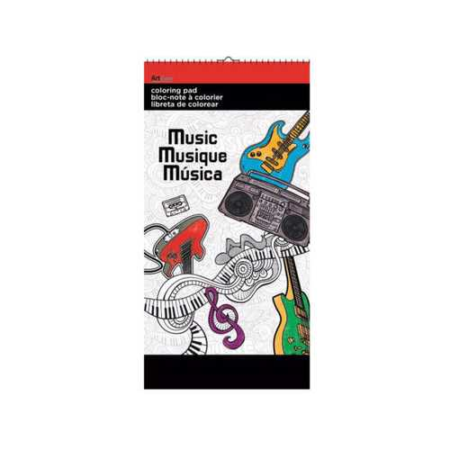 Music Small Coloring Pad ( Case of 24 )