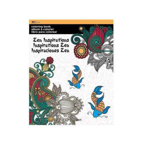 Zen Inspirations Coloring Book ( Case of 72 )