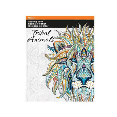Tribal Animals Coloring Book ( Case of 24 )