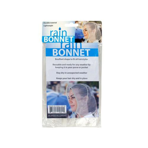 Bouffant Style Rain Bonnet ( Case of 24 )