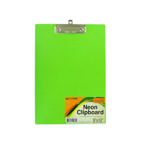 Neon Clipboard with Steel-Chrome Plated Clip ( Case of 16 )