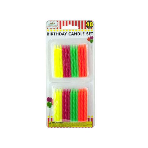 Colored Birthday Candle Set ( Case of 48 )