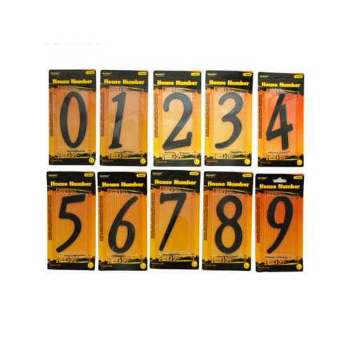Black Metal House Number ( Case of 48 )