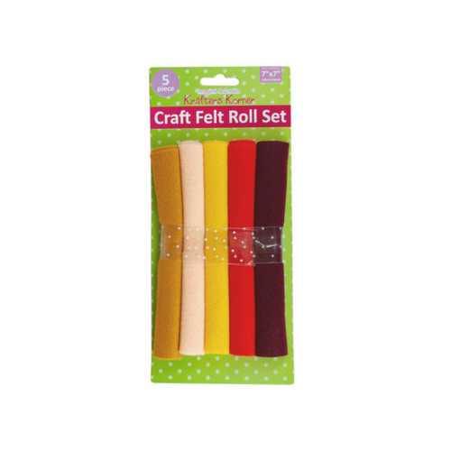 7 inch x 7 inch felt rolls 5 piece ( Case of 24 )