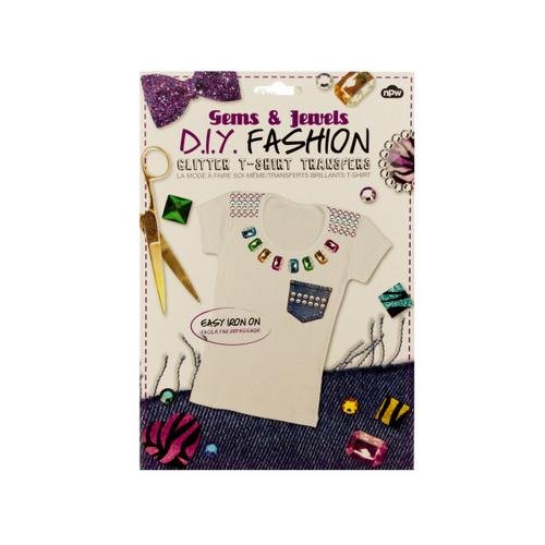 Do It Yourself Glitter T-Shirt Iron On Transfers ( Case of 72 )