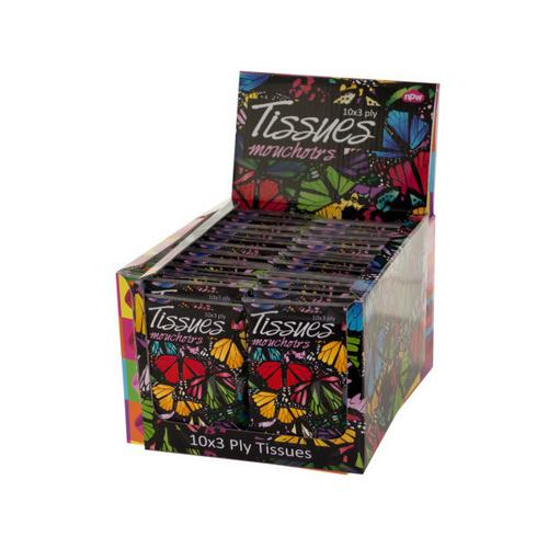Butterfly Print Tissues Countertop Display ( Case of 72 )