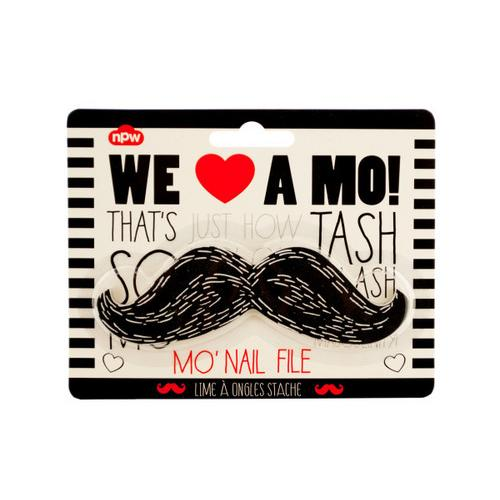 Black Mustache Nail File ( Case of 48 )