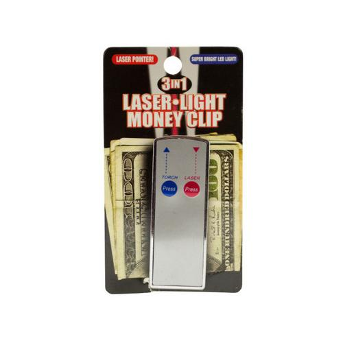 3 In 1 Laser Light Money Clip ( Case of 72 )