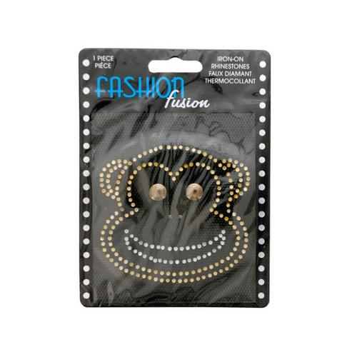 Iron-On Rhinestone Monkey ( Case of 24 )