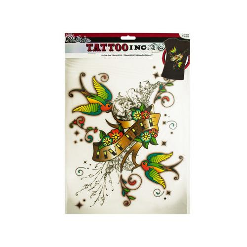 Iron-On Live Free Tattoo Transfer ( Case of 24 )