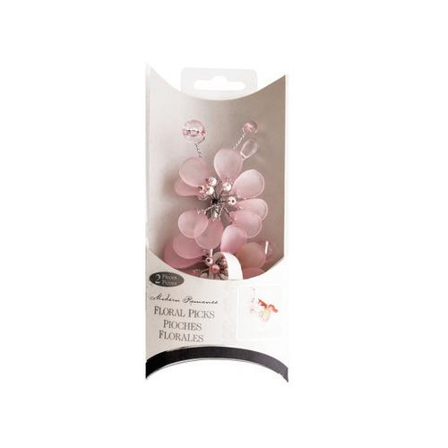 Frosted Pink Bouquet Floral Picks ( Case of 96 )