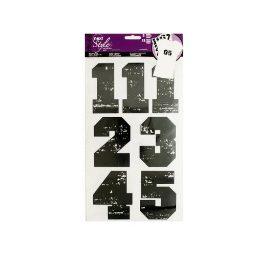 Iron-On Black Numbers ( Case of 24 )
