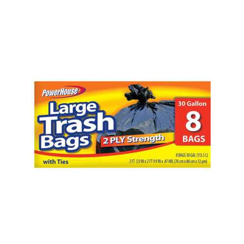 Large Trash Bags Set ( Case of 60 )
