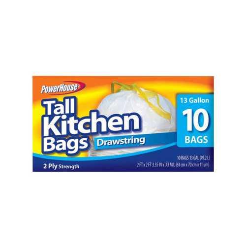 Tall Kitchen Drawstring Bags Set ( Case of 40 )