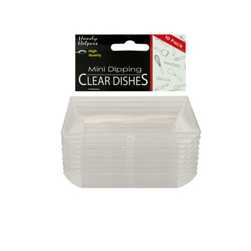 Clear Mini Dipping Dishes Set ( Case of 12 )
