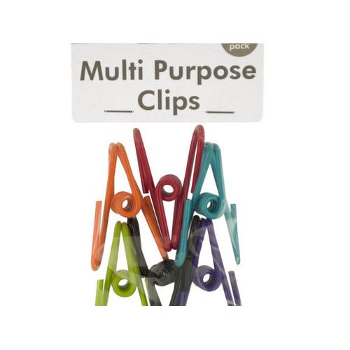 Plastic Coated Multi-Purpose Clips ( Case of 72 )
