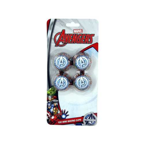 100 Count Avengers Mini Cupcake Liners ( Case of 24 )