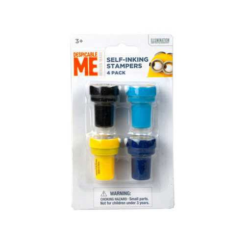 Minions 4 Pack Stampers ( Case of 96 )