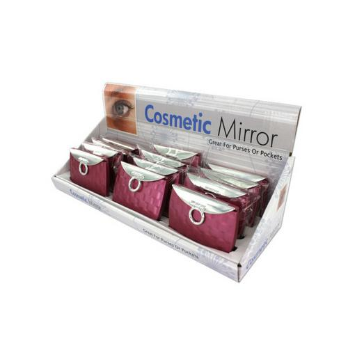 Purse Design Cosmetic Mirror Display ( Case of 24 )