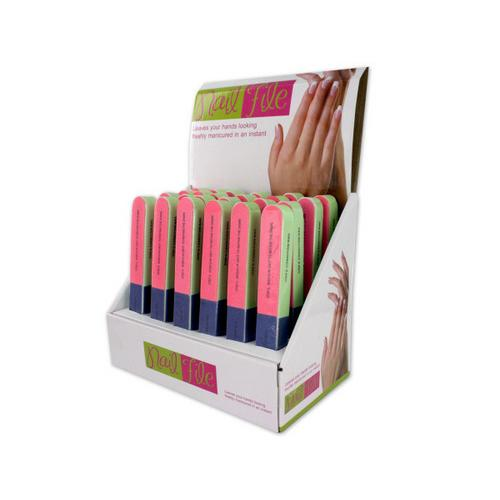 7-Way Nail File Countertop Display ( Case of 24 )